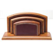 Volumica - Porte-lettres/courrier Bois style Cuir Bordeaux Collection Trianon