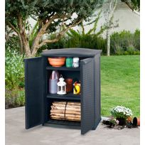Keter - Armoire Resine Basse Tressee