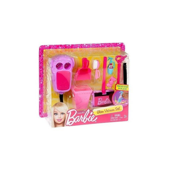 barbie mattel set accessoires m nage maison pas cher achat vente poup es rueducommerce. Black Bedroom Furniture Sets. Home Design Ideas