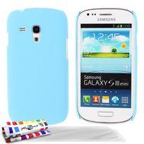 """Muzzano - Coque Rigide Ultra-Slim Le """"Pearls"""" Premium Bleu lagon pour Samsung Galaxy S3 Mini I8190 , + 3 Films de protection ?cran"""