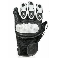 Chaft - gants Spy cuir & textile moto scooter été homme noir-blanc Epi T8