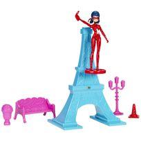 MIRACULOUS LADYBUG - Tour Eiffel et figurine 15 cm