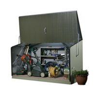 Trimetals - Coffre de rangement vert en métal 1,96x0,89x1,13 m - Storegard_VERT