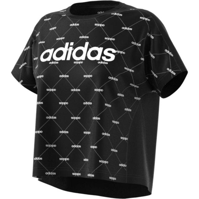 tee-shirt femme adidas blanc et noir