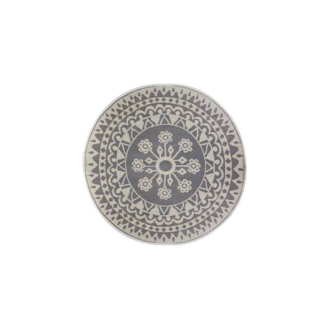 Tapis rond - D 150 cm - Gris