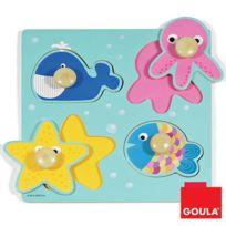 Goula - Encastrement 4 pièces en bois : La mer