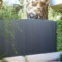 Fence Garden - Canisse brise vue couleur gris anthracite - Jet7GARDEN Dimensions : 1,50 m x 3 m