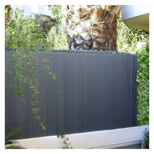 Jet7GARDEN Canisse brise vue couleur gris anthracite - Dimensions : 1,80 m x 3 m