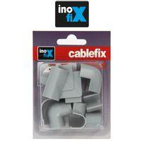 Inofix - Accessoires assortis pour Cablefix 2202 gris metallisé