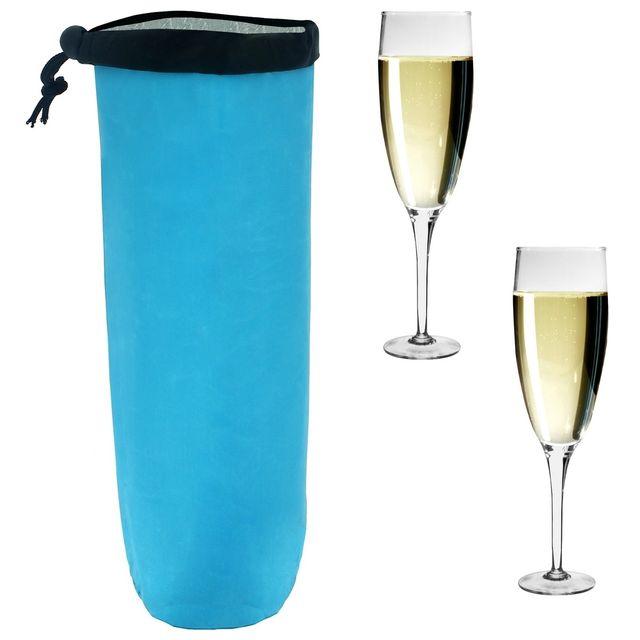 Promobo Sac Fraicheur Isotherme Pour Bouteille Spécial Champagne Orangeade Bleu