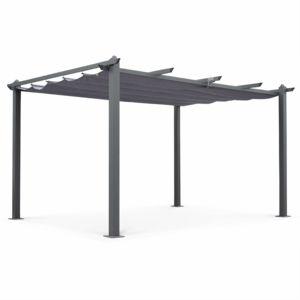 alice 39 s garden tente de jardin pergola aluminium 3x4m condate gris toile r tractable toile. Black Bedroom Furniture Sets. Home Design Ideas