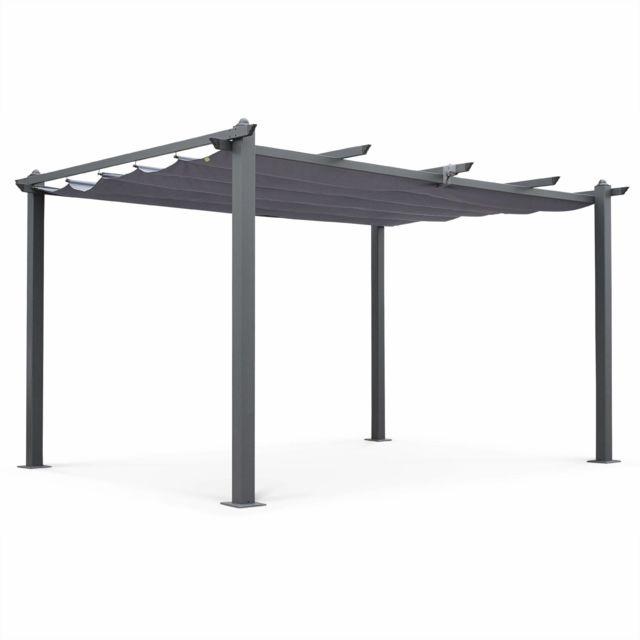Alice S Garden Pergola Aluminium Condate 3x4m Toile Grise