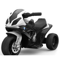 Bmw - S 1000 Rr Tricycle électrique pour enfants, Moto ? piles, 3 roues, sous licence, 1x moteur, batterie 6V, Noir