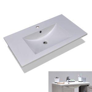 No Name - Plan de toilette 80 cm / Blanc