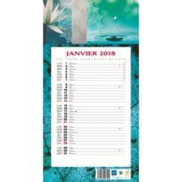 BOUCHUT-GRANDREMY - Bloc mensuel à feuillets Millésimé 2018 - ambiance - 19 x 36 cm