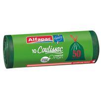 ALFAPAC - COULISSAC - 10 sacs poubelle - 50L - CXV05010OF