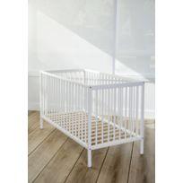 AT4 - Lit bébé à barreaux blanc