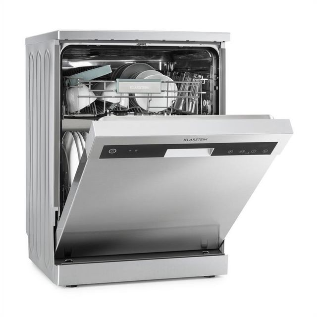 KLARSTEIN Reinfjord Lave-vaisselle A+++ 1850W 12 Couverts Façade inox