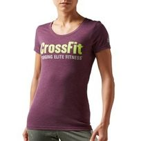 Reebok Crossfit - T-shirt Forging Elite Fitness manches courtes lilas
