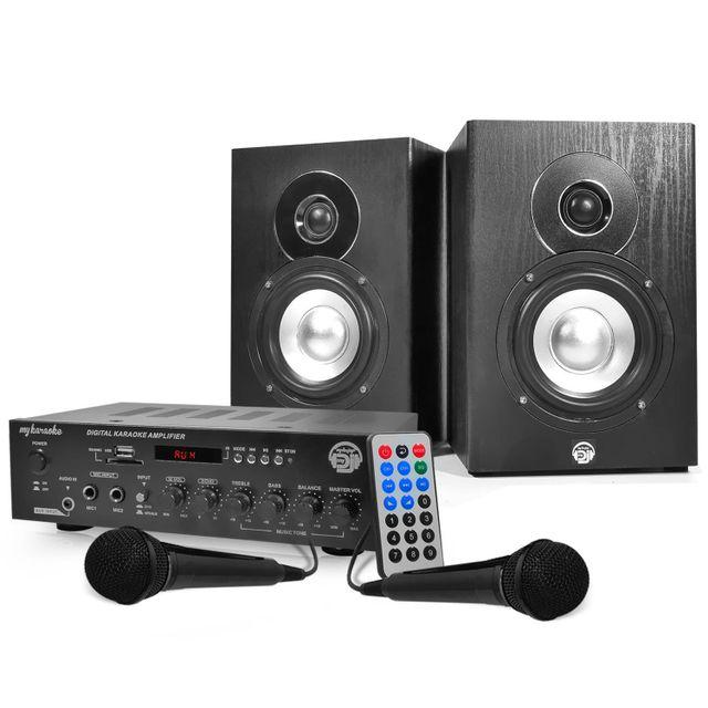 Mydj Ensemble karaoke - Amplificateur 2x75W + 2 Enceintes HiFi 5