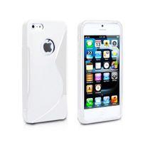 Lapinette - Coque Gel Vague S Pour Apple Iphone 5 - 5s - Blanc
