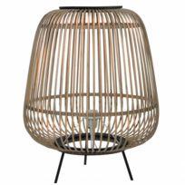 43x43x55cm Tendance En D'appoint Design Et Bois Luminaire Métal Poser Rotin Noir Lampe À Eclairage pSUzqMV