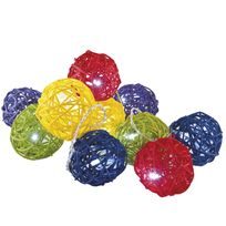 Provence Outillage - Guirlande rotin 10 boules multicolore