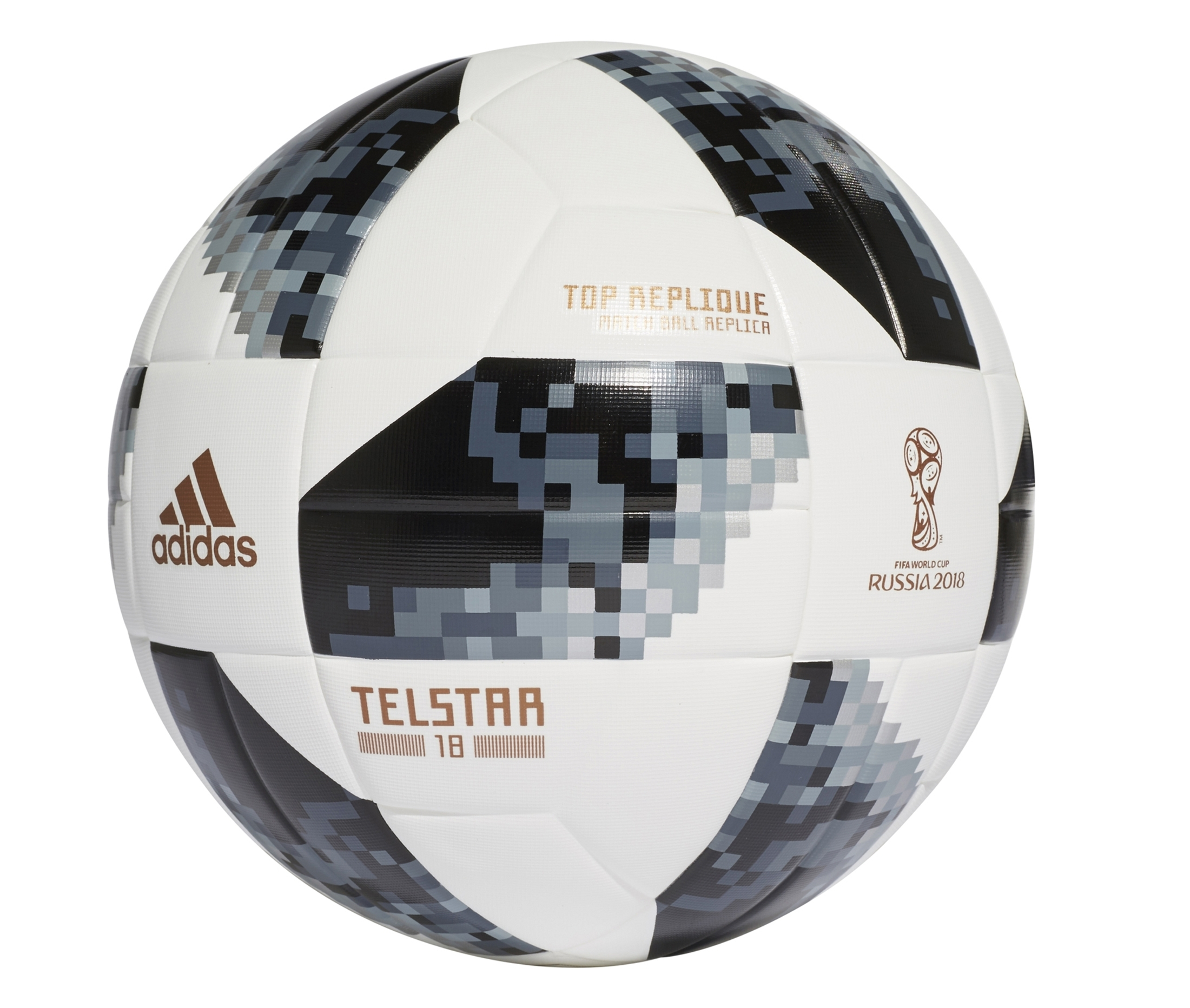Ballon Adidas Coupe Du Monde 2018 Top Replique T.5 Blanc/noir
