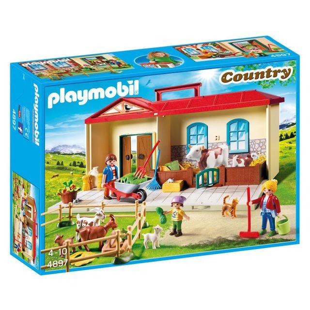 playmobil 4897 ferme transportable pas cher achat vente playmobil rueducommerce. Black Bedroom Furniture Sets. Home Design Ideas