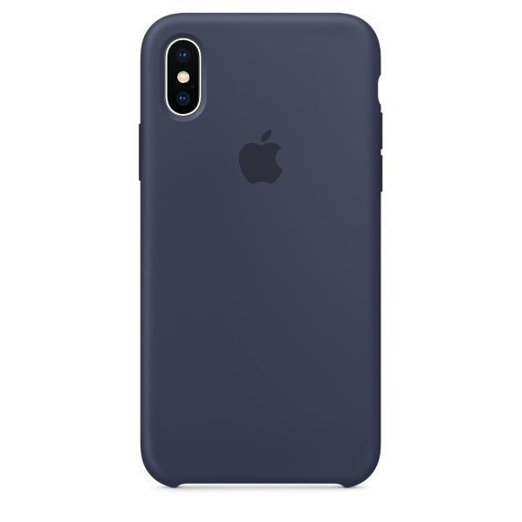 APPLE iPhone X Silicone Case - Bleu nuit