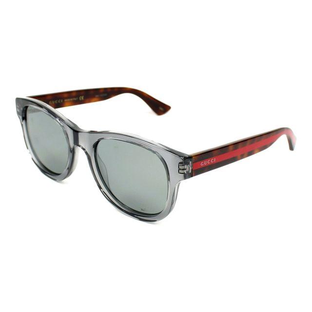 Gucci - Lunettes de soleil Gg-0003-S 005 Homme Gris - pas cher Achat   Vente  Lunettes Tendance - RueDuCommerce 9de57a70f89e