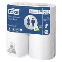 Tork - Papier toilette double épaisseur Lotus Préférence 300 - Carton 40 rouleaux 300 feuilles