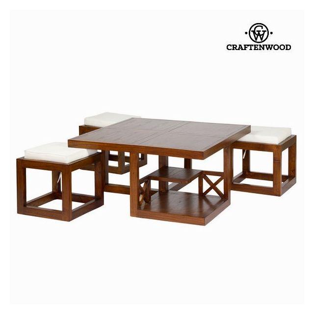 Table Basse Avec Tabouret.Table Basse Avec Tabourets Table Pour Apero Decoration Mobilier Maison