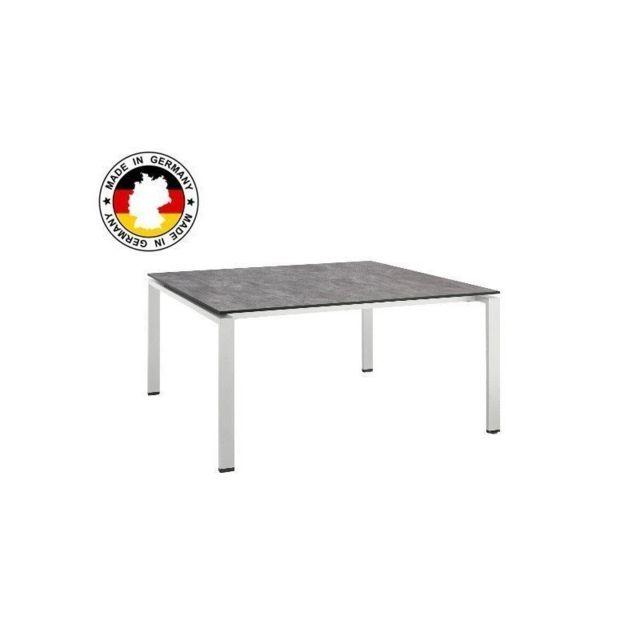 Kettler - Table de jardin Hpl béton brossé - pas cher Achat / Vente ...