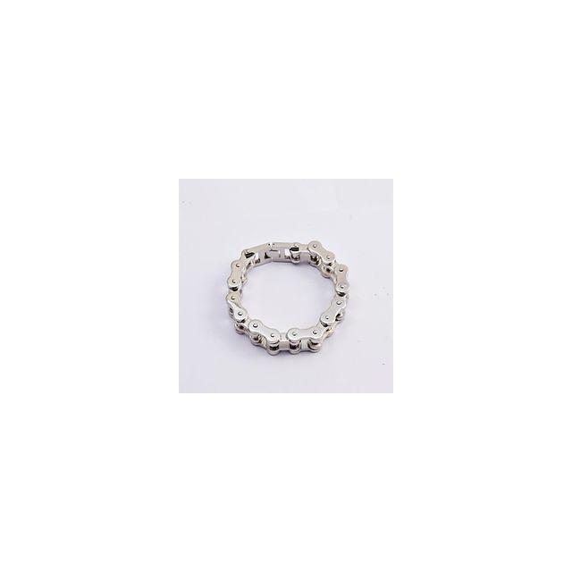 dc9d154640fb3 Alpexe - Bracelet pour homme argenté chaine de moto Acier - pas cher Achat    Vente Bracelets - RueDuCommerce