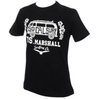 Us Marshall - Tee shirt manches courtes Bus noir mc tee girl Noir 24821