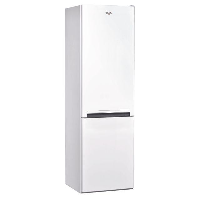 Whirlpool Réfrigérateur congélateur combiné BLFV 8001 W Consommation 309 kWh/an, Dégivrage manuel, Volume utile Réfrigérateur 227L/Congélateur 111L, Classe climatique N.T., Niveau sonore 38 dB (A)