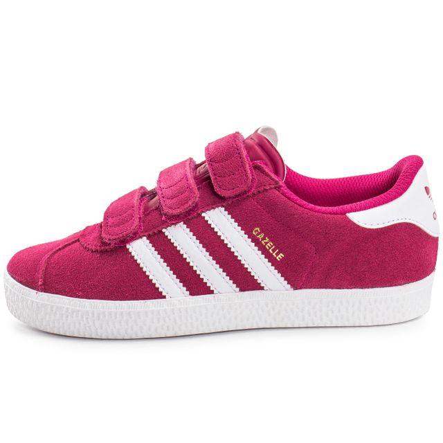 Adidas originals - Gazelle 2 Cf Enfant Rose 31 - pas cher Achat / Vente Baskets enfant - RueDuCommerce