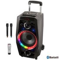 Ngs Technology - Sono Portable 80 W Bluetooth, Sd Radio Fm, jeu de Leds et 2 micros sans fil Wilddisco