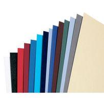 Gbc - Couverture pour reliure effet cuir - A4 - 250g - bleu royal - 100 pièces