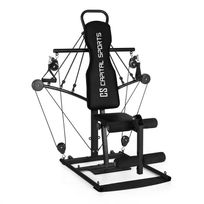CAPITAL SPORTS - Tubey Mini Homegym Station de musculation -noir