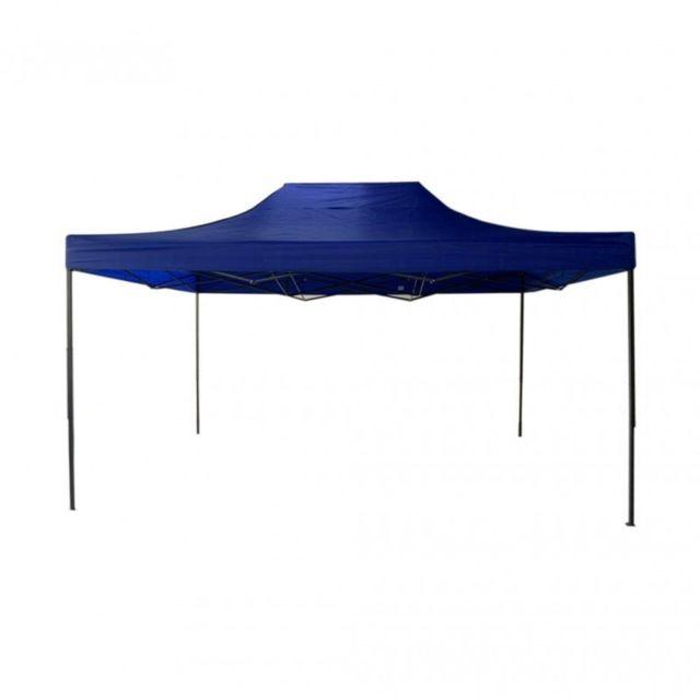 Mobili Rebecca Gazebo bleu 3 x 4,5 pliant pour marchés et foires