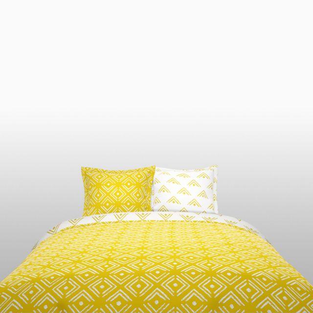 tex home parure enya housse de couette 2 taies d 39 oreiller en coton pas cher achat vente. Black Bedroom Furniture Sets. Home Design Ideas