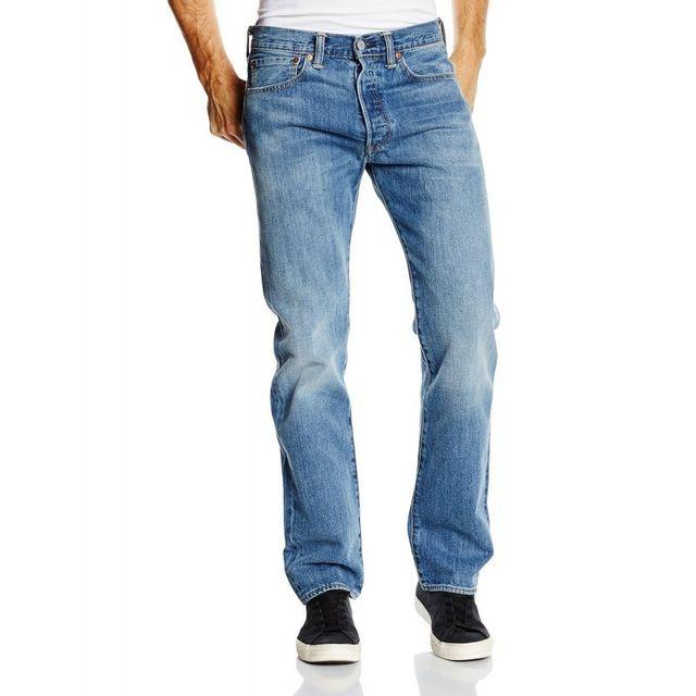 43b3ce4d8530a Levi'S - Jeans 501 Original Fit Nero - pas cher Achat / Vente Jeans homme -  RueDuCommerce