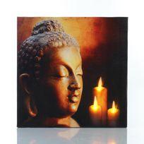 "Paris Prix - Toile Led 28x28cm Zen ""Bouddha"" n°4"