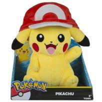 Tomy - Pokemon - Peluche Pikachu avec casquette