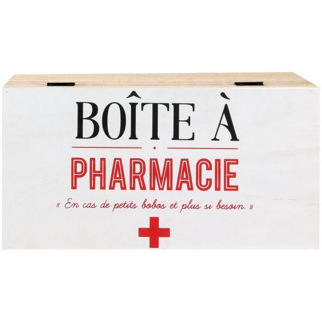 promobo boite a pharmacie en bois inscription petit. Black Bedroom Furniture Sets. Home Design Ideas
