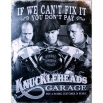 Universel - Plaque knucklehead garage if you can fix it tole deco garage