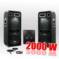 Ibiza Sound - Pack 15212 Sonorisation 2000W Caisson bi-amplifié