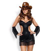 Obsessive - Déguisement de Cow-Girl Sheriffia Noir L/XL